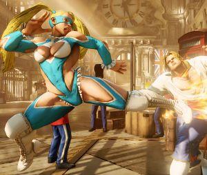 """Uma das habilidades de Rainbow Mika em """"Street Fighter V"""""""