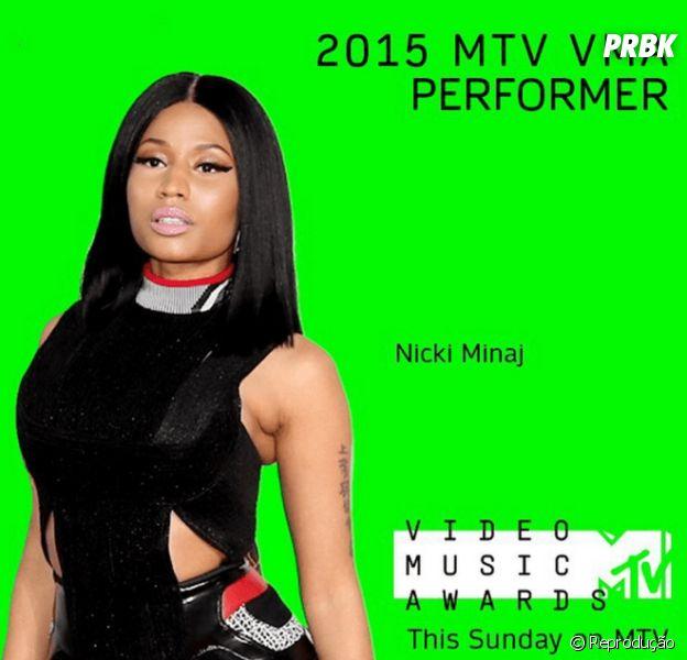 Nicki Minaj foi confirmada para abrir as apresentaçõe do VMA 2015