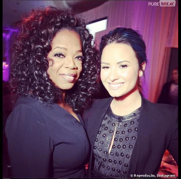 Demi Lovato com Oprah Winfrey, um dos momentos marcantes de 2013 para a estrela teen