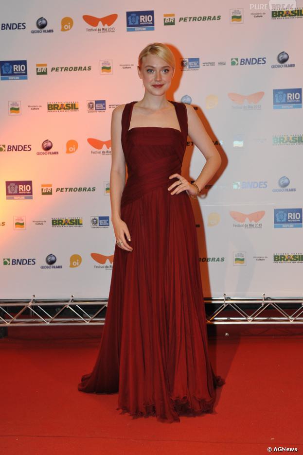 Dakota Fanning esteve no Rio para participar de festival de cinema