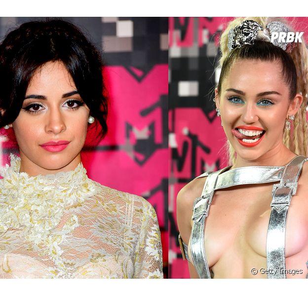 Vocalista do Fifth Harmony, Camila Cabellodefende Miley Cyrus no VMA 2015