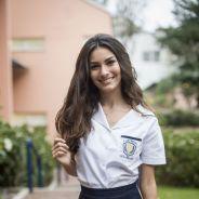 """Marina Moschen, de """"Malhação"""", entra na vibe de Luciana e relembra tempos de escola: """"Era boa aluna"""""""