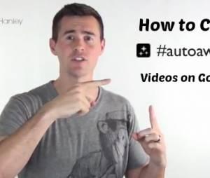 Vídeo ensinando como usar o Auto Awesome para editar seus vídeos