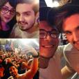 Luan Santana foi ao Rock in Rio 2015neste domingo (20) e não poupou as selfies com fãs