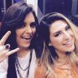 Mônica Iozzi e Fernanda Paes Leme foram conferir o show do Queen no Rock in Rio 2015