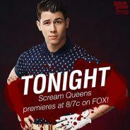 """Nick Jonas, de """"Scream Queens"""", afirma estar honrado em interpretar personagem gay na série"""