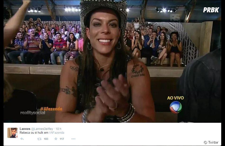 """A ex-nadadora Rebeca Gusmão também foi zoada na estreia de """"A Fazenda 8"""", da Record"""