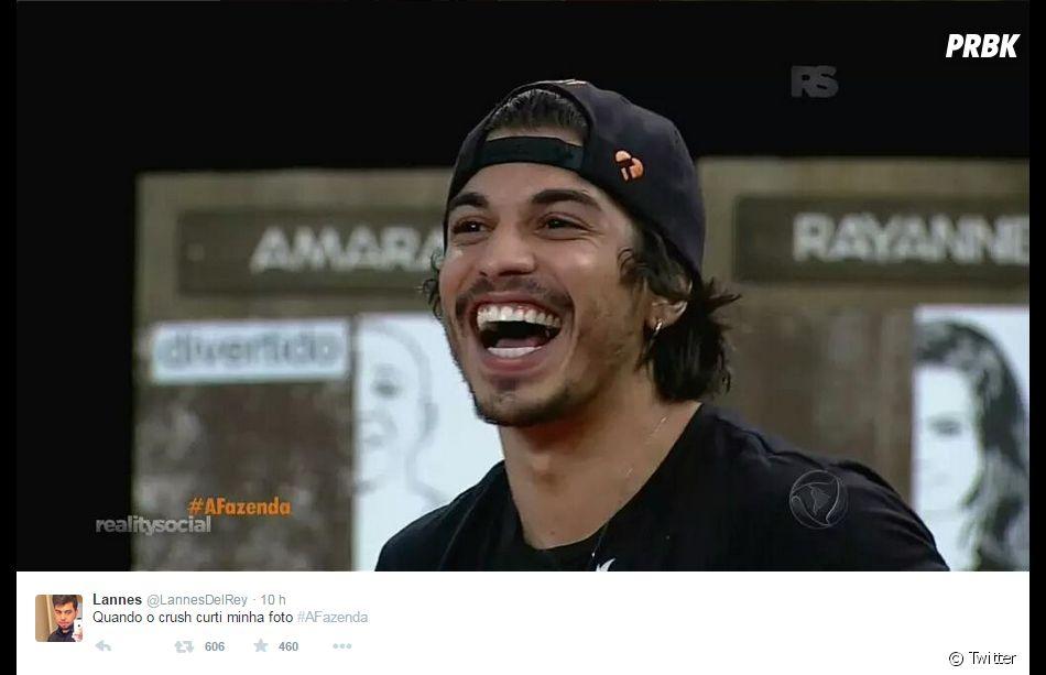 """Em """"A Fazenda 8"""", da Record: o peão Douglas Sampaio já tá fazendo a galera delirar..."""