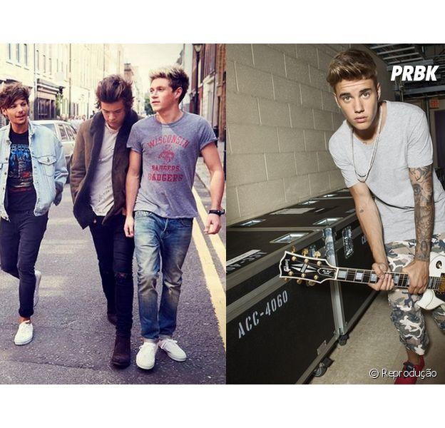 Louis Tomlinson, do One Direction, cutuca Justin Bieber após cantor tirar sarro da banda no Snapchat