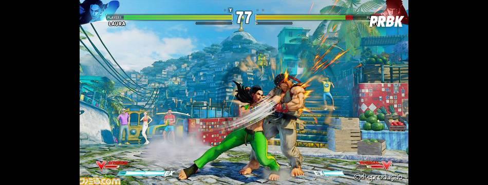 """Contra Ryu, Laura mostra como é o swing do Brasil em """"Street Fighter V"""""""