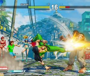 """Outro golpe da personagem inédita de """"Street Fighter V"""", que veste as cores da bandeira do Brasil"""