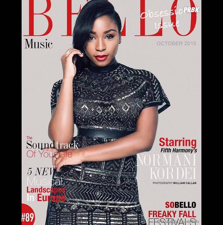 Normani Kordei, integrante do Fifth Harmony, é capa da revista Bello