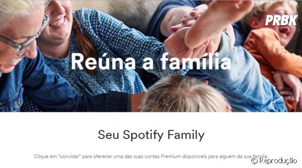 Spotify é um dos aplicativos que você pode compartilhar com os seus amigos ou família