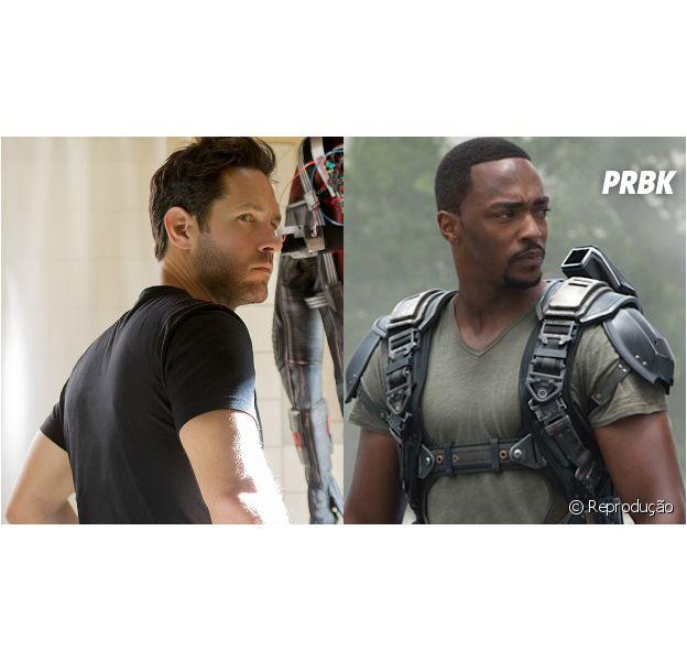 """Homem-Formiga (Paul Rudd) e Falcão (Anthony Mackie) vão se zoar o tempo inteiro em """"Capitão América 3: Guerra Civil""""!"""