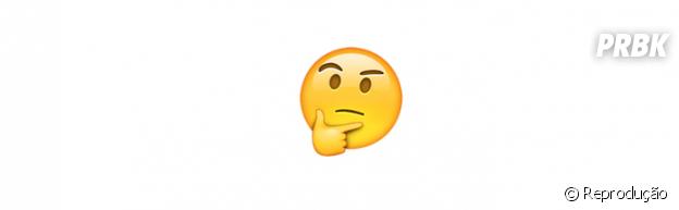 Significado dos emojis: pensativo