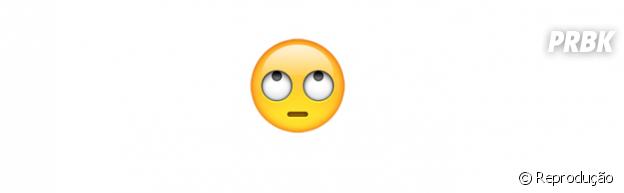 Significado dos emojis: revirando os olhos