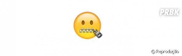 Significado dos emojis: zíper