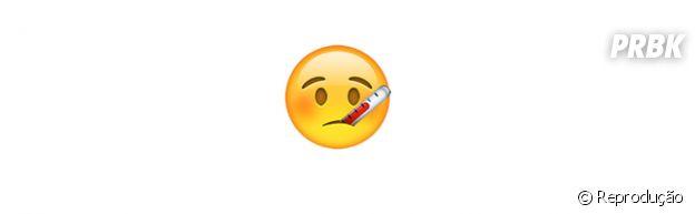Significado dos emojis: doente