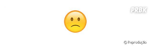 Significado dos emojis: pouco triste