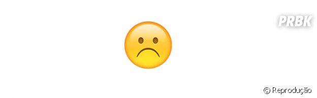 Significado dos emojis: decepcionado