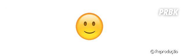 Significado dos emojis: sorriso discreto