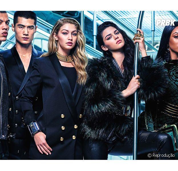 Kendall Jenner e Gigi Hadid estampam campanha da Balmain para a H&M