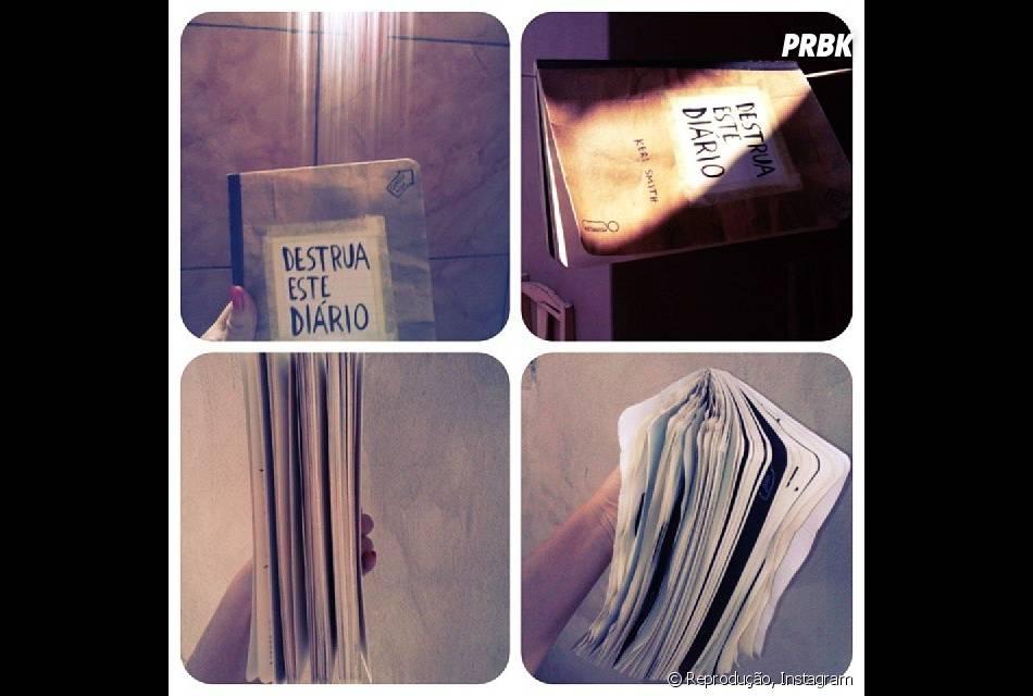 """Uma das missões mais complicadas do """"Destrua Este Diário"""" é levar o livro para o banho"""