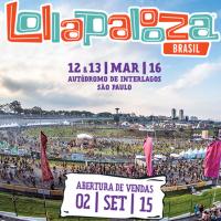 Lollapalooza 2016 divulga line up de cada dia e venda de ingressos começa nesta terça-feira (03)