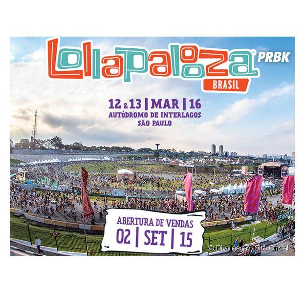Lollapalooza 2016 divulga line up separado por dia e ingressos começam a ser vendidos nesta terça-feira (03)