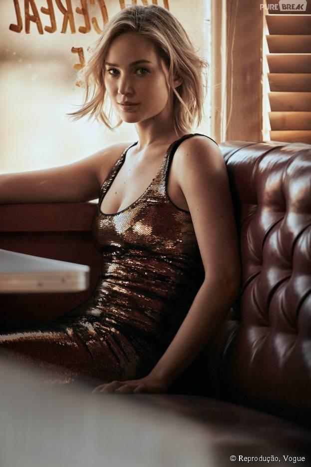 Jennifer Lawrence fala sobre fotos íntimas para a Vogue