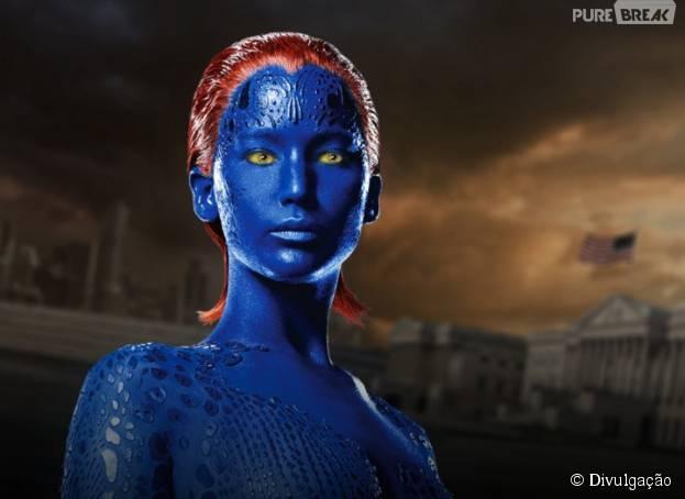 """Jennifer Lawrence viverá pela última vez a personagem Mística, em """"X-Men: Apocalipse"""", que estreia em maio de 2016"""