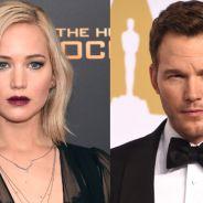 """Jennifer Lawrence sobre cena de sexo com Chris Pratt: """"Primeira vez beijando um homem casado!"""""""