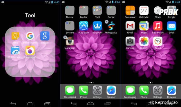 Transformar Android em iPhone: OS9 Launcher
