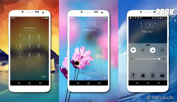 Transformar Android em iPhone: HI Lockscreen