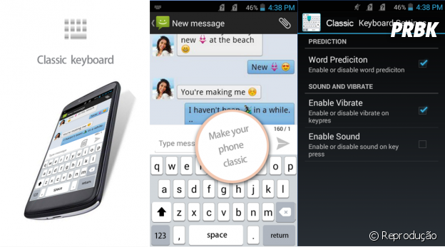 Transformar Android em iPhone: Classic Keyboard