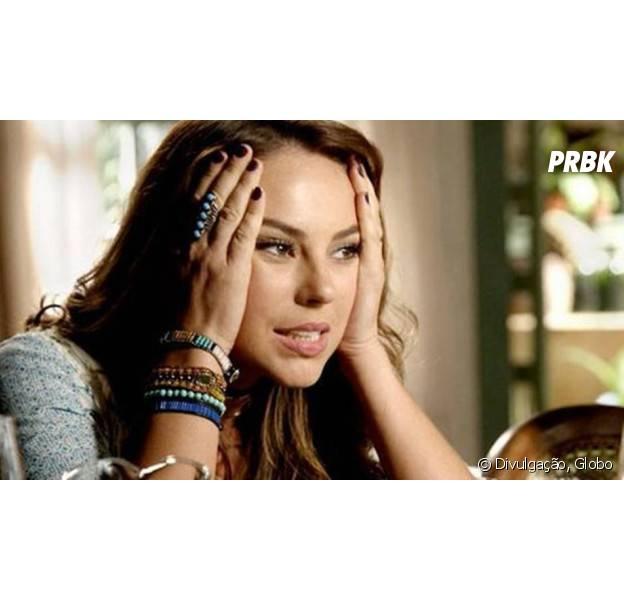 """Em """"Além do Tempo"""", Melissa (Paolla Oliveira) ameaça matar Lívia (Alinne Moraes) após ser rejeitada por Felipe (Rafael Cardoso)!"""