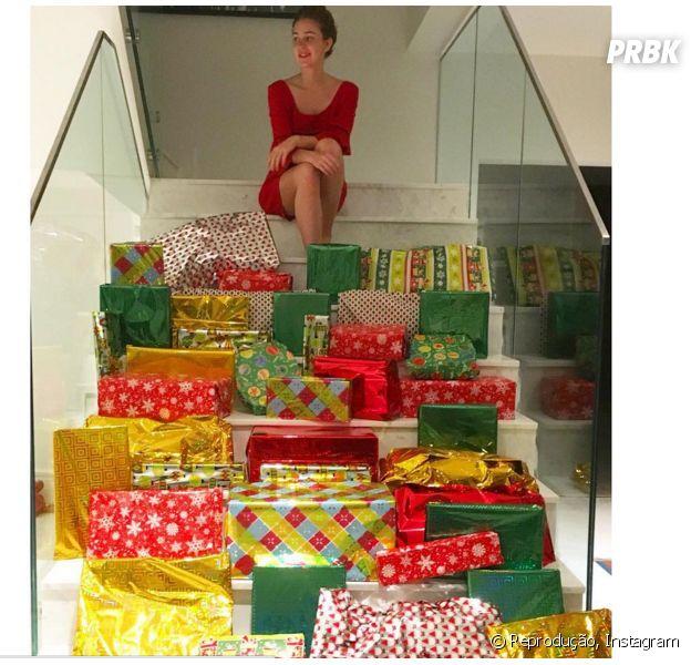 A atriz Marina Ruy Barbosa resolveu dar um novo sentido para o Natal