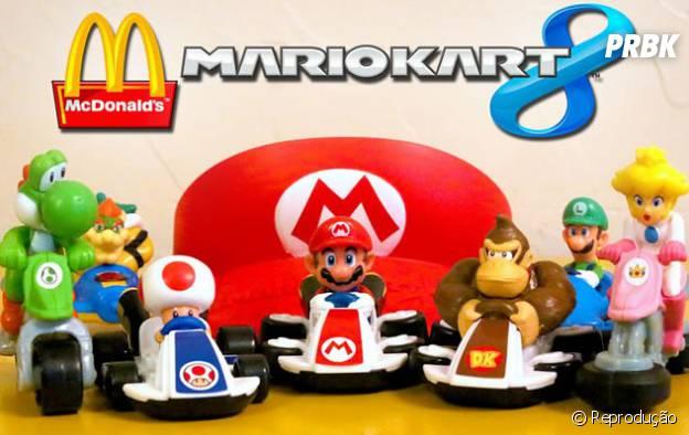 """Todos querem a coleção de """"Mario Kart 8"""" do Mc Lanche Feliz."""