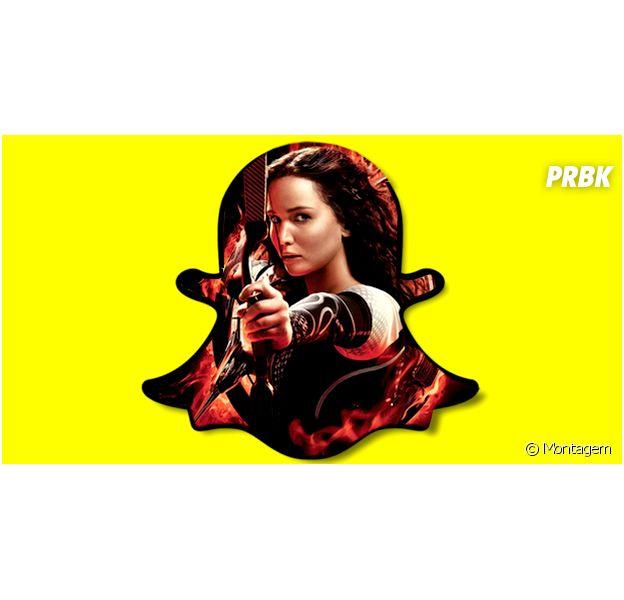 """Como Katniss de """"Jogos Vorazes"""", veja personagens da ficção que deveriam ter Snapchat"""
