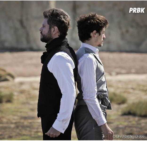 "Em ""Ligações Perigosas"", Felipe (Jesuita Barbosa) e Augusto (Selton Mello) duelam após gravidez de Cecília (Alice Wegmann) ser descoberta!"