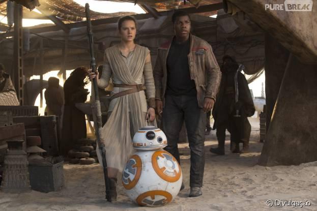 """Depois de """"Star Wars VII"""", os fãs vão preecisar esperar para ver Rey (Daisy Ridley), Finn (John Boyega) e BB-8 nas telonas outra vez"""