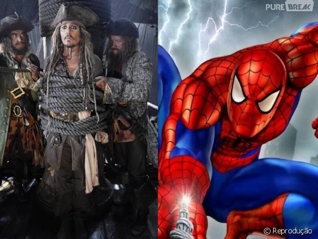 """""""Piratas do Caribe 5"""" e o novo """"Homem-Aranha"""" têm seus lançamentos adiantados, após atraso de """"Star Wars VIII""""!"""