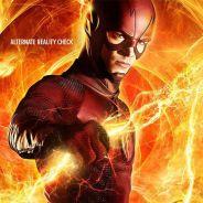 """Em """"The Flash"""": na 2ª temporada, Barry (Grant Gustin) viaja rumo à Terra-2 em novo pôster!"""