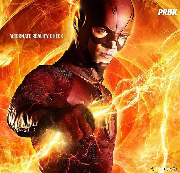 """Em """"The Flash"""", Barry (Grant Gustin) aparece se preparando para viagem à Terra-2 em novo pôster"""