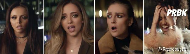 "Little Mix no clipe do hit ""Secret Love Song"""