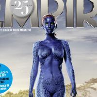 Jennifer Lawrence aparece seminua caracterizada de Mística em capa de revista