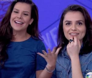 """Fernanda Souza, de """"A Regra do Jogo"""", já esteve na bancada do """"Vídeo Show"""" ao lado de Monica Iozzi"""