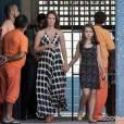"""Paloma (Paolla Oliveira) grávida e Paulinha (Klara Castanho) vão até a penitenciária em """"Amor à Vida"""""""