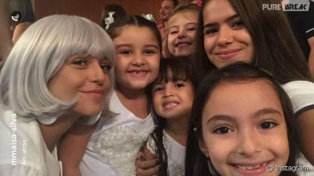 """De """"Carinha de Anjo"""": Priscila Sol, Maisa Silva e as crianças do elenco postaram foto juntas"""