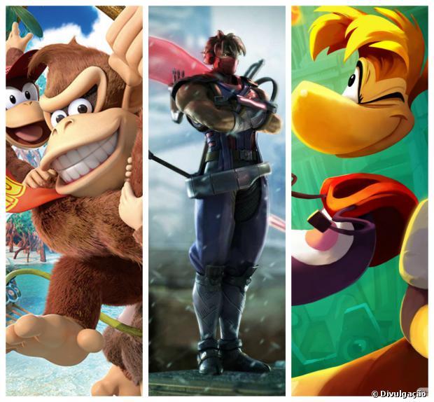 """""""Donkey Kong"""", """"Strider"""" e """"Rayman"""" são as novidades"""